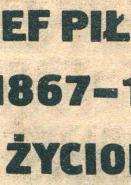 Jędrzejewicz Jedrzejewicz Józef Piłsudski 1867-1935 Życiorys Jozef Pilsudski Zyciorys Myśl Mysl 1985 k002542 Muzeum Wolnego Słowa m-ws.pl m-ws.pl/muzeum/ incipit