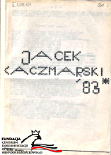 Kaczmarski Jacek 1983 83 Warszawa 1984 A4 12 s Wako Koczewski BN 2.298.157 FC-36813