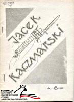 Kaczmarski Jacek Wiersze i piosenki cz 2 Kraków Bez Cięć 1986 A5 60 s FC-3779 AR 7767