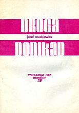 Mackiewicz Droga donikąd donikad Maraton 1987 k004159 Muzeum Wolnego Słowa www.m-ws.pl/muzeum/