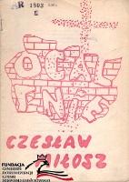 Miłosz Czesław Milosz Czeslaw Ocalenie Kielce NZS WSP 1981 FC-9241 AR 1803