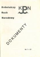 Robotniczy Ruch Narodowy Dokumenty KPN Wydawnictwo Polskie 1981 Biblioteka RRN